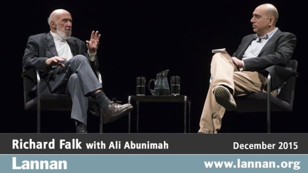 Richard Falk with Ali Abunimah, 2 December 2015