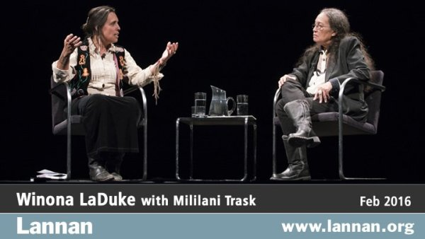 Winona LaDuke with Mililani Trask, 24 February 2016