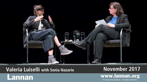 Valeria Luiselli with Sonia Nazario, Conversation, 29 November 2017