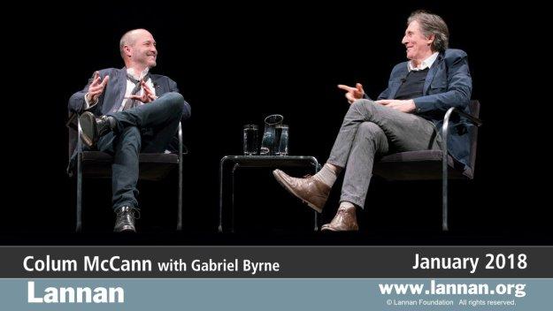 Colum McCann with Gabriel Byrne