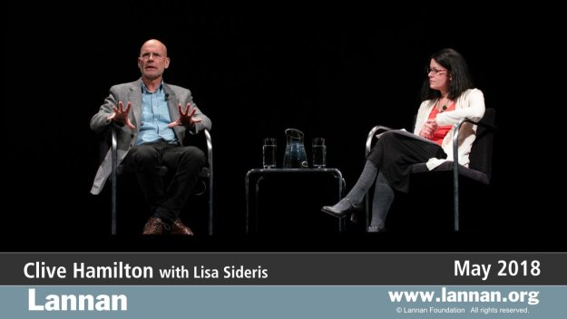 Clive Hamilton with Lisa Sideris