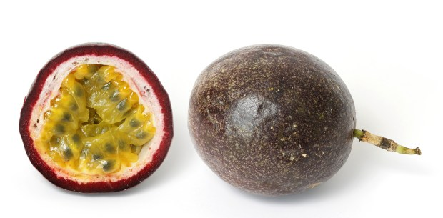Passionfruit and cross section