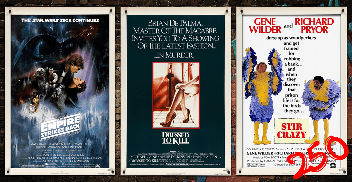 FAS250 – The Empire Strikes Back (1980), Dressed to Kill (1980) and Stir Crazy (1980)