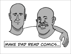 Make Dad Read Comics Logo