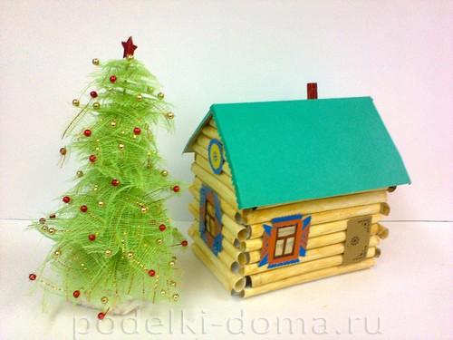 Árvore de Natal e casa