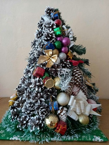 Christmas trees and Christmas trees with their own hands - more than 100 options
