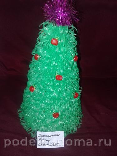 Árbol de navidad tejiendo crochet