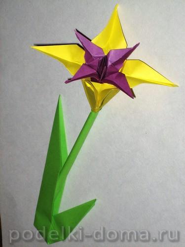 Iris iz bumagi origami26.