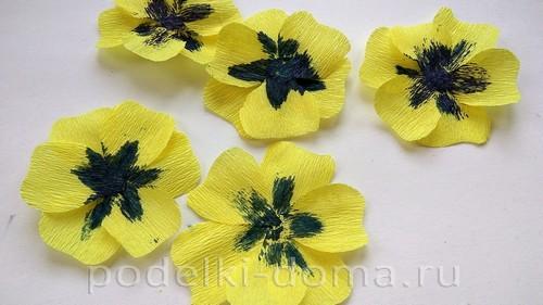 Paper Flowers Pansies 04.