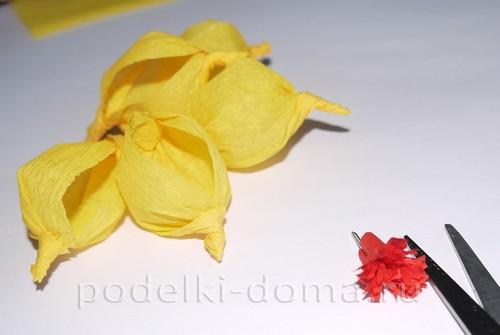 цветы из гофробумаги10