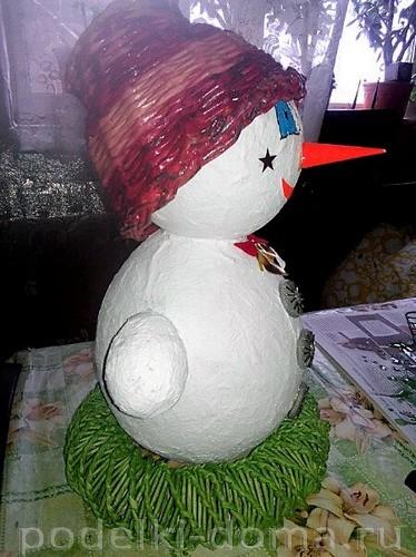 Papier-Masha Snowman 4