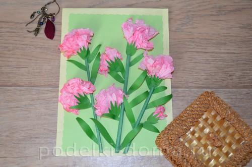 Paper Flowers Carnations appliqué17.