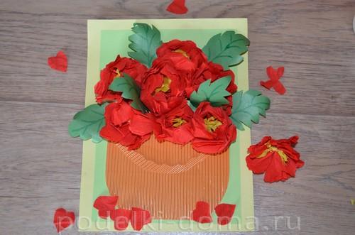 Paper Flowers Peonies appliqué14.