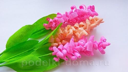 """542437a81de """"Kvety vo váze. Hyacinty z vlnitého papiera"""