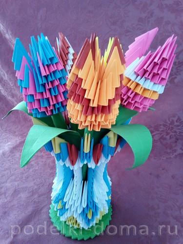 Bulaklak modular origami.