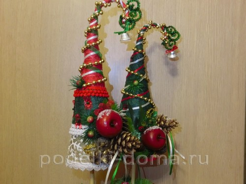 Árvores de Natal e árvores de Natal com suas próprias mãos - mais de 100 opções