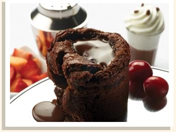 メルティングチョコレートハートケーキ&シェイク