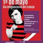 21 abril en plaza Mariana Pineda, a las 18 h. Asamblea ciudadana sobre el día del trabajo.