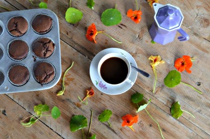 Muffin golosi al cioccolato fondente