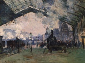 Arrival of the Normandy Train, Gare St. Lazare by Monet