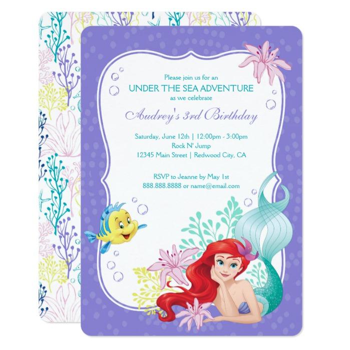 sea birthday invitation