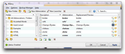 opening screen before importing snippets
