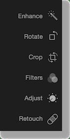 edit menu as described