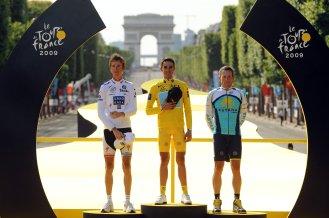 Alberto Contador, Lance Armstrong, Andy Schleck
