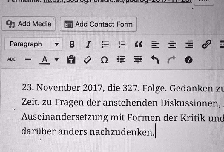 Podlog #327 2017-11-23