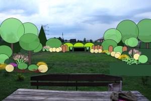 ogród Ewy i Mariusza - wizualizacja 3