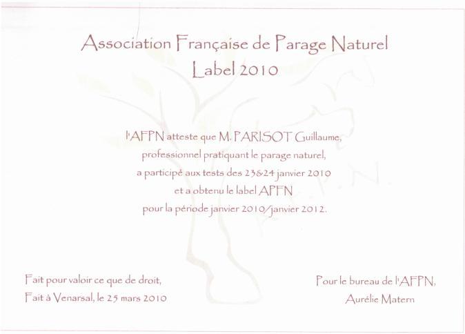 certificat AFPN