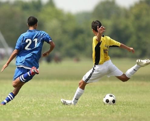 sport préparation au shoot en football