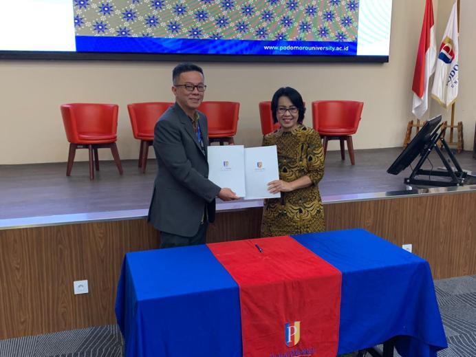 Kunjungan Kerjasama Universitas Sam Ratulangi Manado ke Podomoro University
