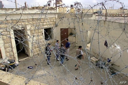 FILE - The courtyard of the infamous Khiam Prison in southern Lebanon, May 24, 2000.