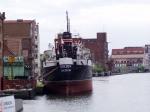 SS Sołdek zacumowany w Gdańsku na Motławie