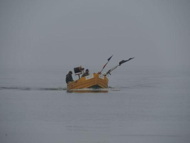 Jantar - rybacy wracający z połowu