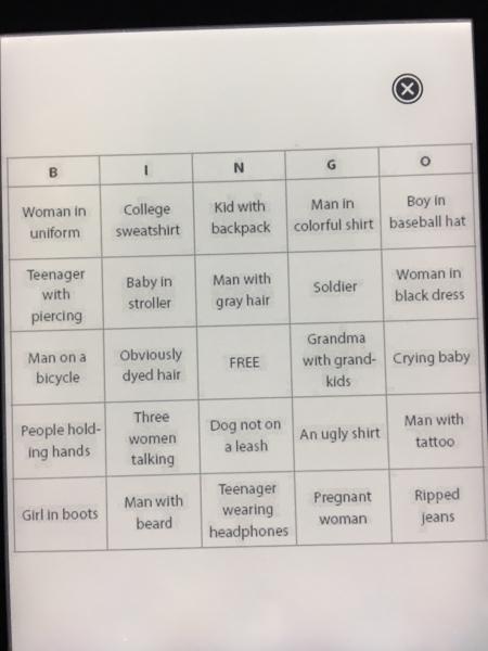 Gry i zabawy dla dzieci w podróży - podróżnicze bingo można zrobić samemu na kartce i rozdać małym globtroterom