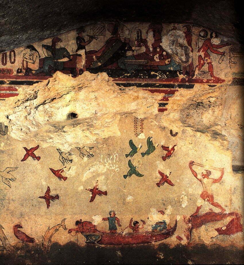 Tarkwinia - grób polowania i rybołówstwa, koniec VI w. p.n.e.