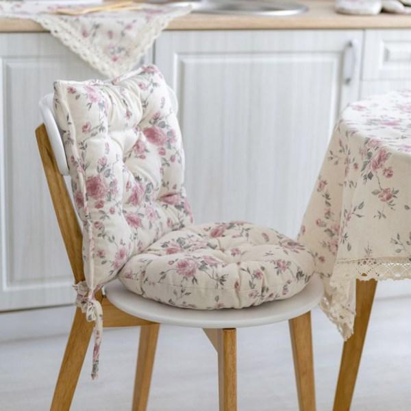 Подушка для стула круглая Прованс Bella Розы купить в ...