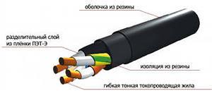 Конструкция кабеля КГ
