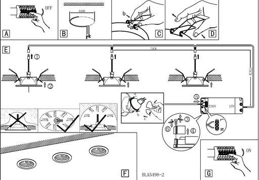 Как установить и разместить встраиваемые точечные светильники