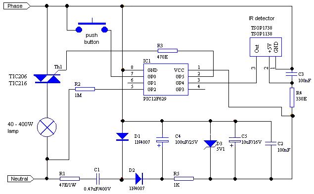 Симистор со схемой фазового управления