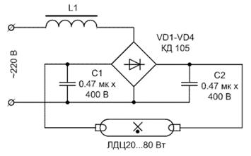 Два конденсатора в схеме