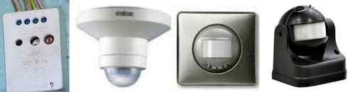 Примеры различных конструкций датчиков движения. Датчик движения для включения света