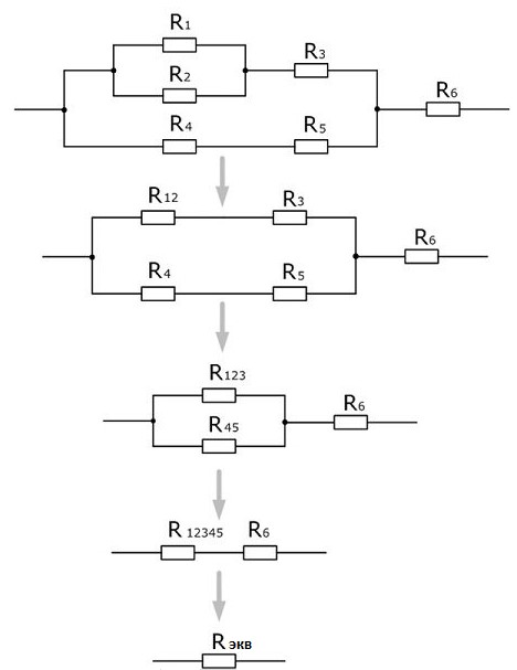 эквивалентное сопротивление резисторов