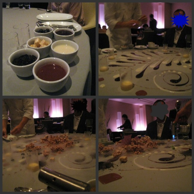 Dessert collage at Alinea, Chicago