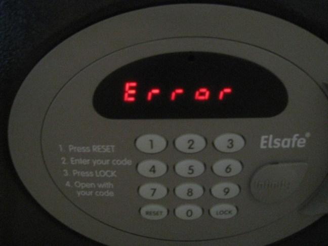 Safe error