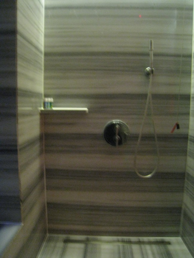 Shower at the W Hotel Istanbul