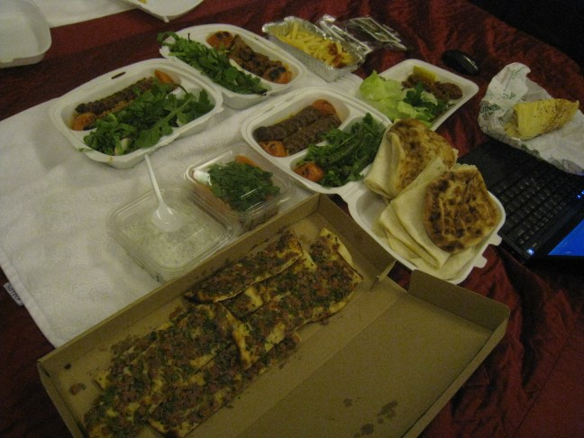 Our Turkish hotel bed picnic
