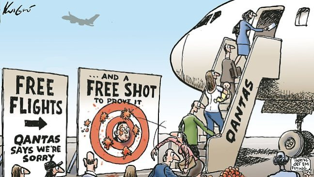 Qantas cartoon